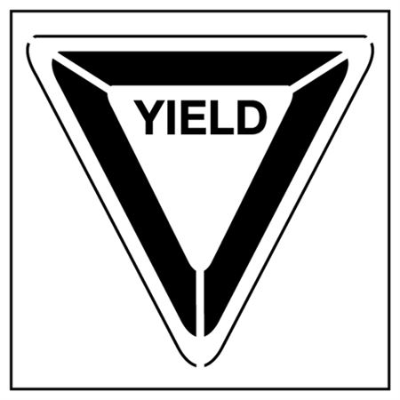 Yield Parking Stencil - 43 in. x 48 in.