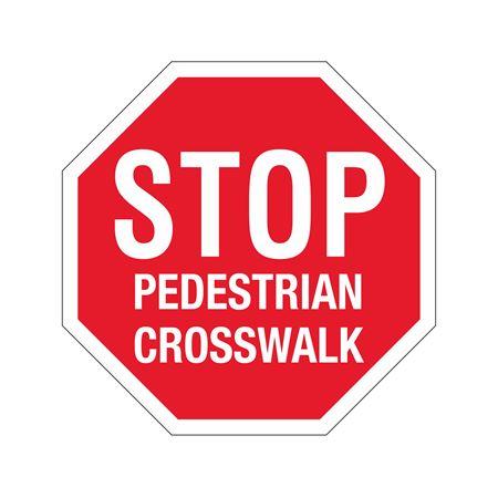 Stop Sign - STOP - Pedestrian Crosswalk