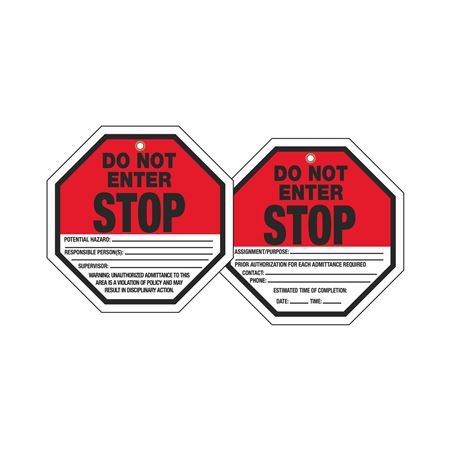 Stop Tags - Stop Do Not Enter 8 x 8