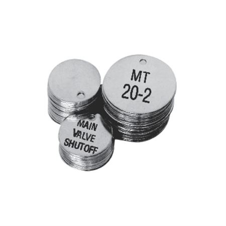"1 1/2"" Round Custom Engraved Stainless Steel Valve Tags"