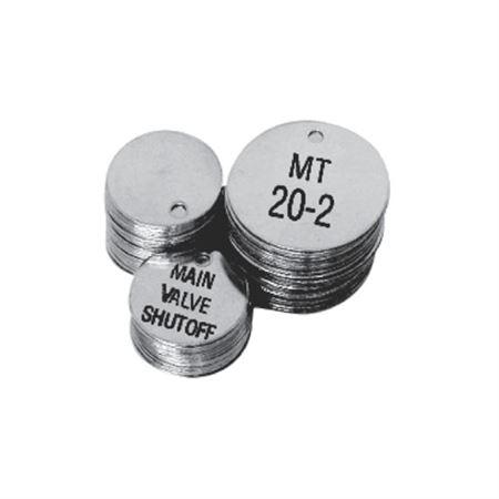 "2"" Round Custom Engraved Stainless Steel Valve Tags"