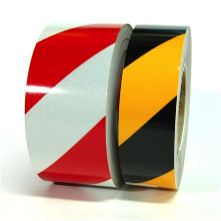 "Color Coded Reflective Marking Tape 3"" Striped"