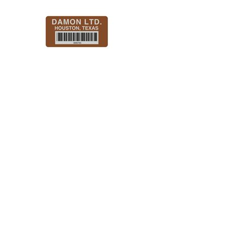Printed Tuff Tags - Custom - Barcoded 1 1/2 Inch x 3 Inch or up to 4 1/2 sq.inches