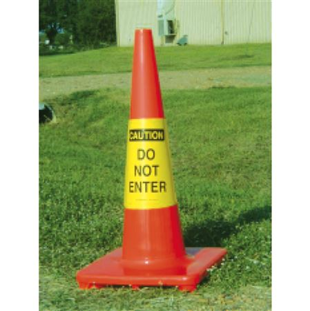 Cone Sleeves - Caution/Do Not Enter