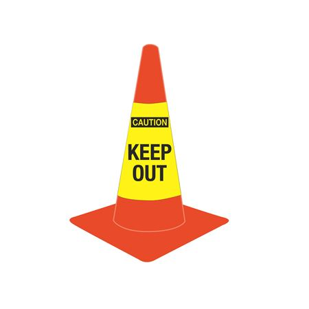 Cone Sleeves - Caution/Keep Out