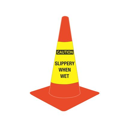 Cone Sleeves - Caution/Slippery When Wet