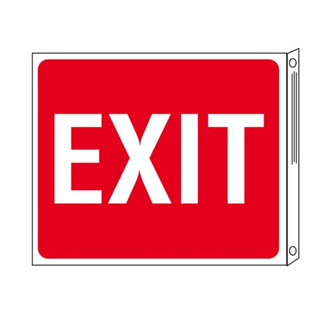 Two-Sided Flanged Signs - Exit 10x12