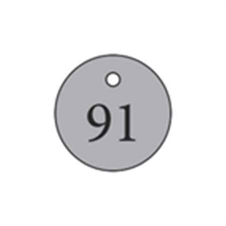 "Metal Tags - Blank 1"" Diameter"