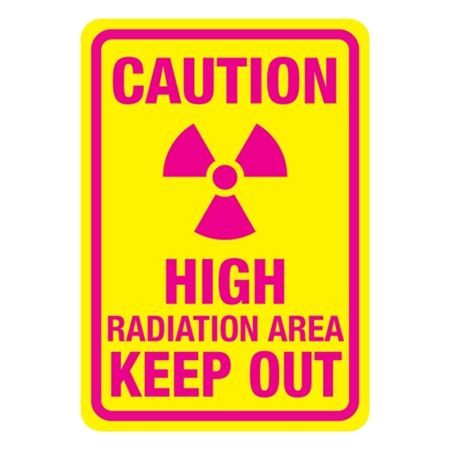 Caution High Radiation Area Keep Out Sign
