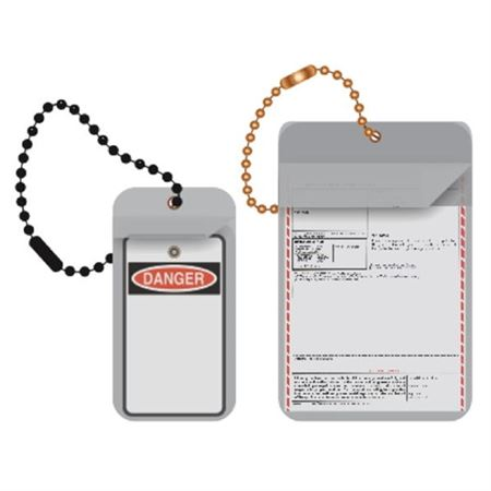 "Vinyl Tag Protectors - Fits up to 1 3/4"" x 4"" - Pack of 100 1 3/4 x 4"