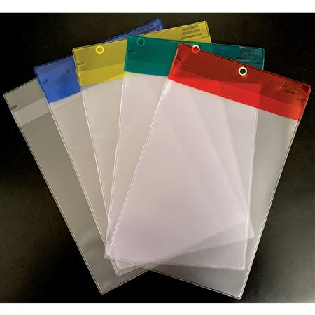 "Vinyl Tag Protectors Fits tags up to 6"" x 9"""