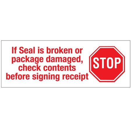 """Stock Shipping Tape - If Seal is broken... 2"""" x 110 yds"""