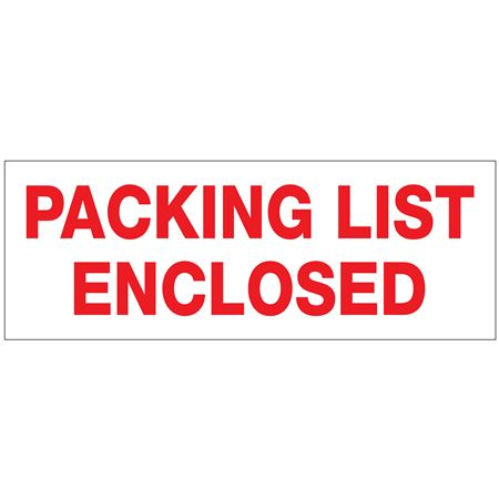"Stock Shipping Tape - Packing List Enclosed 2"" x 110 yds"