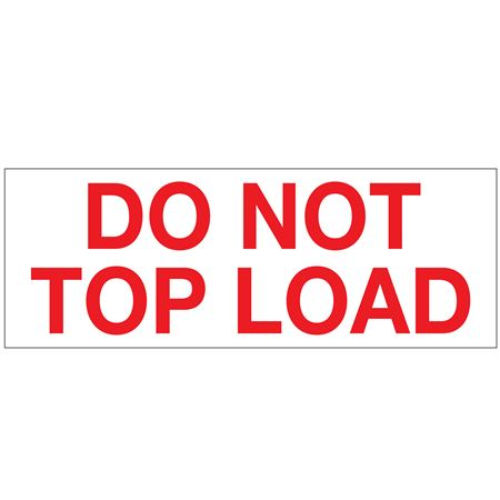 Printed Stock Shipping Tape - DO NOT TOP LOAD 2x110