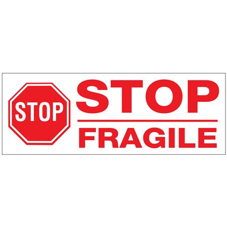 Stock Shipping Tape - STOP / FRAGILE 2x110