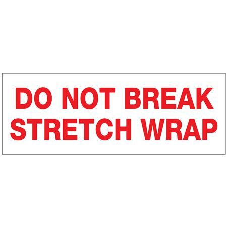 "Stock Shipping Tape - Do Not Break Stretch 2"" x 110 yds"