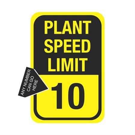 Plant Speed Limit Sign  12 x 18