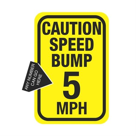 Caution Speed Bump MPH Sign 12 x 18