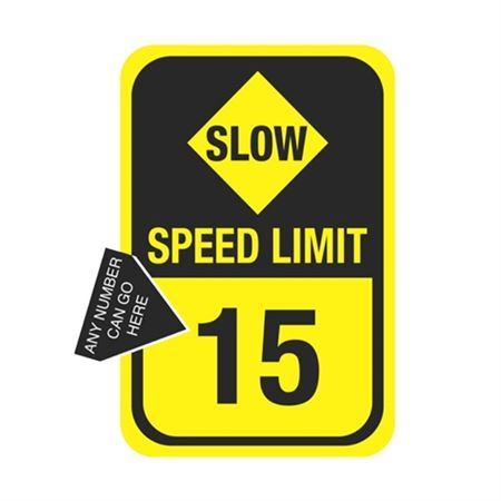 Slow Speed Limit Sign