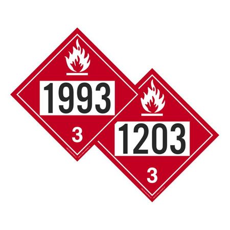 Two-Sided Placards - Flammable Liquid N.O.S./Gasoline 10 3/4 x 10 3/4