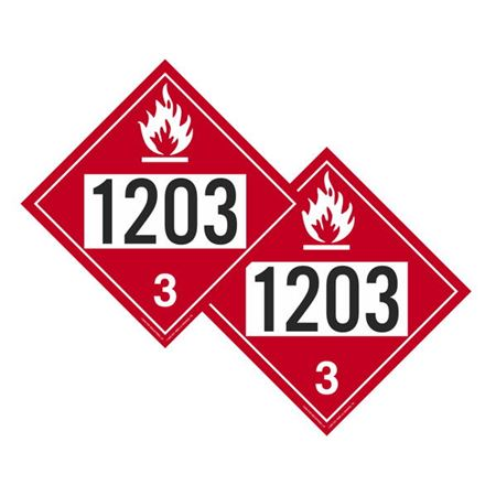 Two-Sided Placards - Gasoline/Gasoline 10 3/4 x 10 3/4