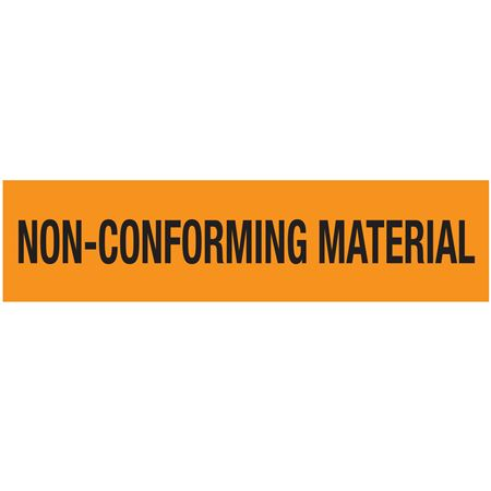 Pallet Tape - Non-Conforming Material (Black on Orange) 3 in