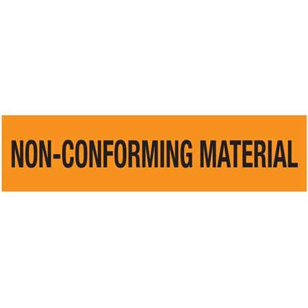 Adhesive Pallet Tape-NON-CONFORMING MATERIAL-Blk on OR-3 in
