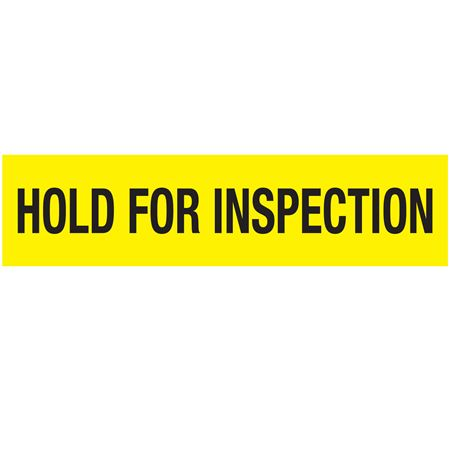 Non-Adhesive PalletTape-HOLD FOR INSPECTION-Blk on YL-3 in