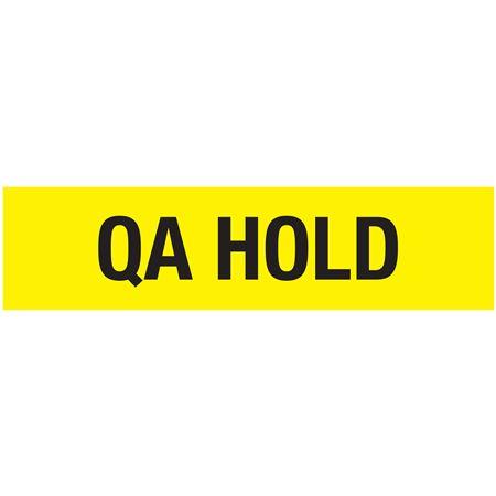 Non-Adhesive Pallet Tape-QA HOLD-Black on Yellow