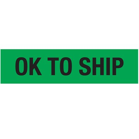 Adhesive Pallet Tape - OK TO SHIP (Black on Green) 3 in