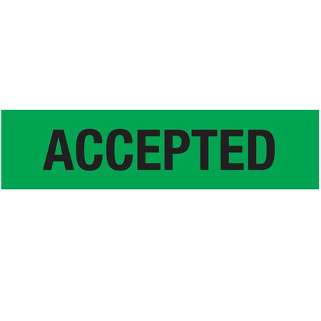 Non-Adhesive Pallet Tape - ACCEPTED (Black on Green) 3 in