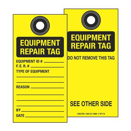 Tamperproof Self-Laminating Equipment Repair Tag- 3-1/8 x 6-1/4