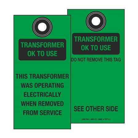 Self-Laminating Transformer Ok To Use Tag  3 1/8 x 6 1/4