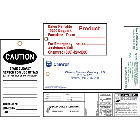 Custom Tyvek Tags - 6 or less sq. inches One Color Print