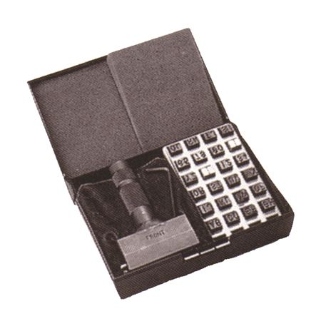 "Type Holder and Type Kits - 48 pcs - 1/4"" Kit w/48 Characters (12 Capacity)"