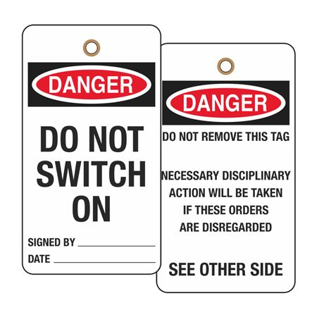 Utility & Electrical Safety Tags - Danger