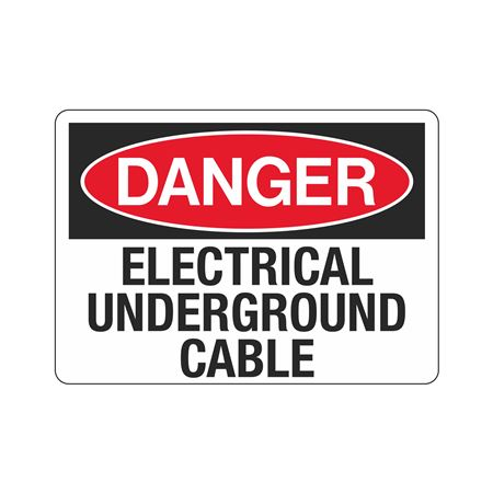 Danger Electrical Underground Cable Sign - 10 x 14