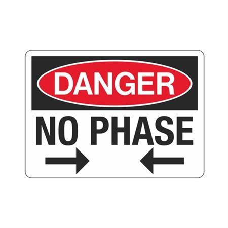 Danger No Phase Sign - 7 x 10