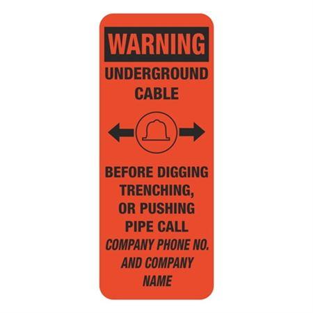 Warning Underground Cable - 4 x 10