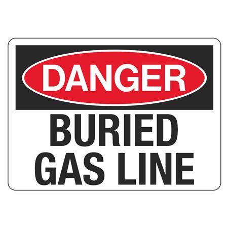 "Danger Buried Gas Line - 10"" x 14"""