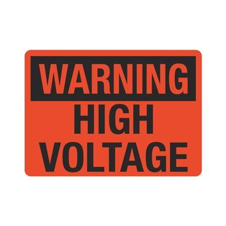 Warning High Voltage Sign - 10 x 14