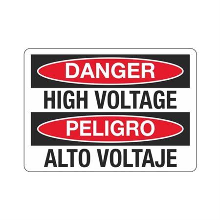Danger High Voltage Peligro Alto Voltaje Sign - 10 x 14