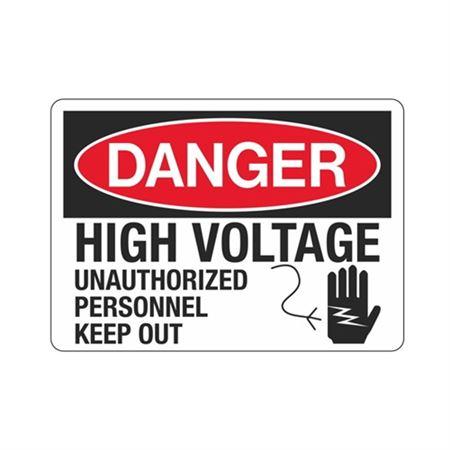 Danger High Voltage Unauthorized Personnel - 10 x 14
