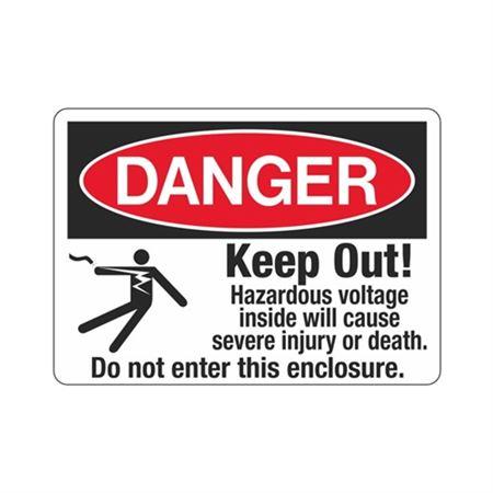 Danger Keep Out! Hazardous Voltage Inside 10 x 14