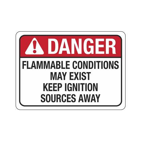 DangerFlammableConditionsMayExist Sign 10 x 14