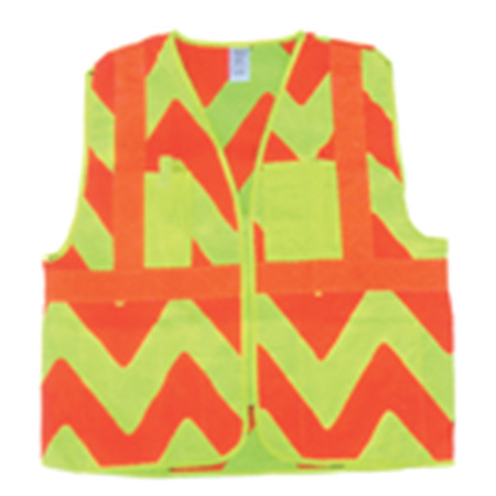 ANSI/ISEA 107-2004 Class Two Vests - Exta Large Zebra - Lightweight Material