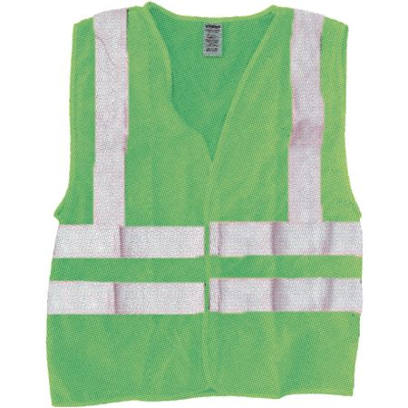 ANSI Class 2 Standard Solid Safety Vest - Fluorescent Green
