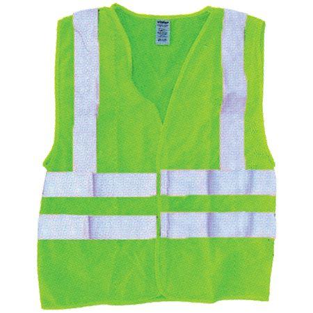 ANSI Class 2 Deluxe Mesh Vest - Fluorescent Green
