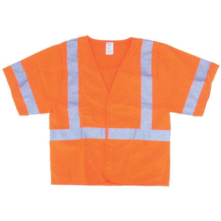 ANSI Class 3 Standard Solid Safety Vest - Fluorescent Orange