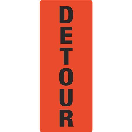 """Portable Sign System - DETOUR 12"""" x 25 1/2"""""""